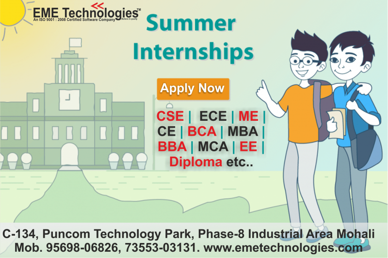 Summer internship in Chandigarh
