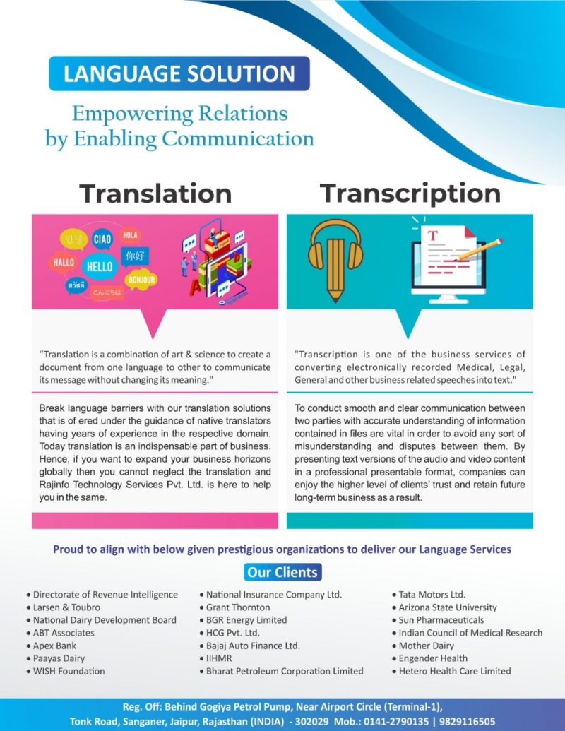 Outsource Transcription Services in India