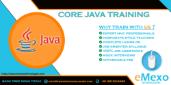 Best Java Training Institute in Electronic City - eMexo Technologies