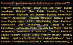 For Complete Property & Legal Solutions In Hyderabad Telangana.