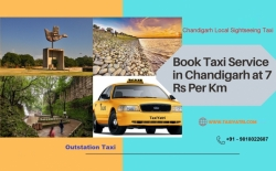 Book Best Taxi Service in Chandigarh at Rs 7/Km